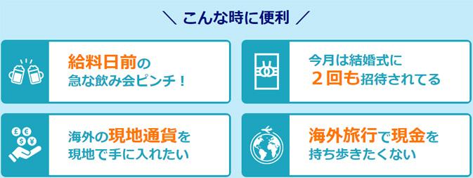 キャッシング枠を付けた場合は7日間利息0円!