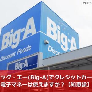 ビッグ・エー(Big-A)でクレジットカード・電子マネーは使えますか?【知恵袋】