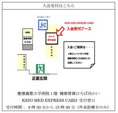 慶應義塾大学病院カード入会受付
