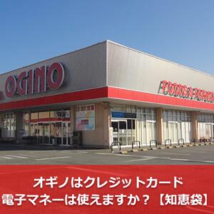 オギノはクレジットカード・電子マネーは使えますか?【知恵袋】