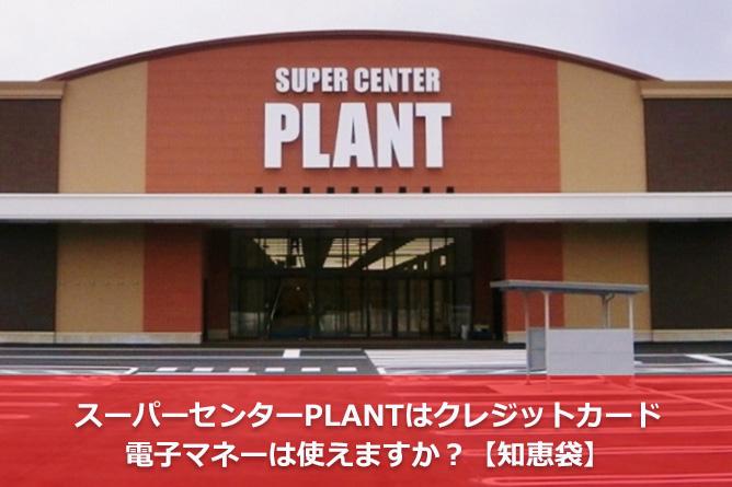 スーパーセンターPLANTはクレジットカード・電子マネーは使えますか?【知恵袋】