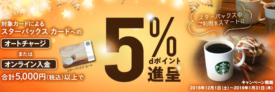 dカード【dカード特約店】スターバックス カードキャンペーン