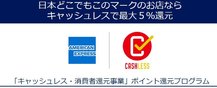 amex 「キャッシュレス・消費者還元事業」ポイント還元プログラム