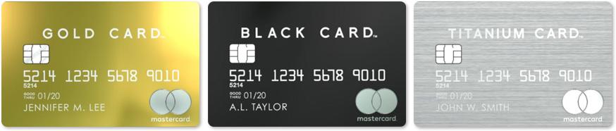 金属製のラグジュアリーカード