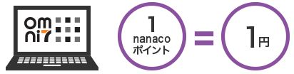 オムニ7でnanacoポイントが利用できる