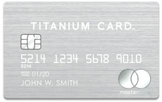 金属製のクレジットカード チタンカード
