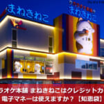 カラオケ本舗 まねきねこはクレジットカード・電子マネーは使えますか?【知恵袋】