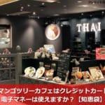マンゴツリーカフェはクレジットカード・電子マネーは使えますか?【知恵袋】