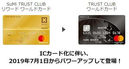 TRUST CLUBワールドカードに変更になりました。