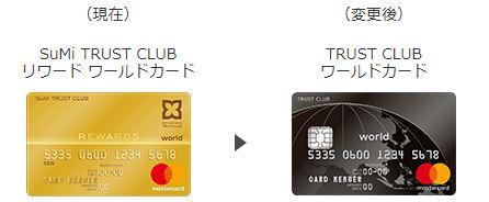 TRUST CLUB ワールドカードへ変更