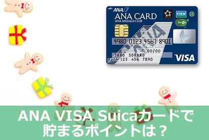 ANA VISA Suicaカードで貯まるポイントは