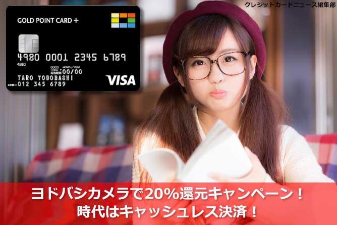ヨドバシカメラで20%還元キャンペーン!時代はキャッシュレス決済!