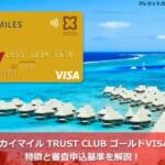 デルタ スカイマイル TRUST CLUB ゴールドVISAカードの特徴と審査申込基準を解説!