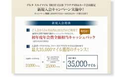 デルタ スカイマイル SuMi TRUST CLUB プラチナVISAカードカード公式サイト