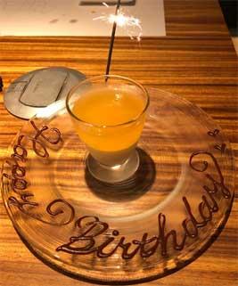 誕生日のデコレートデザート