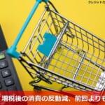 【最新】増税後の消費の反動減、前回よりも小幅に