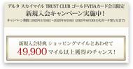 デルタスカイマイル TRUST CLUBゴールドVISAカード公式サイト